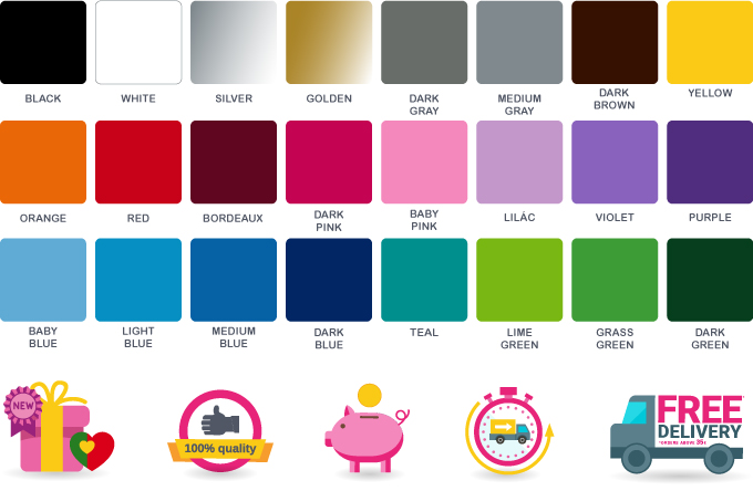 Color Chart - Viart - Wall stickers - Vinyl decorationc