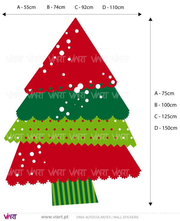 "Viart Wall Stickers - Christmas tree ""Funny"" - measures"