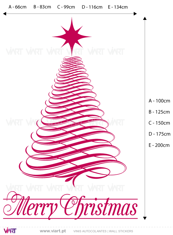 "Viart Wall Stickers - Christmas tree ""Light"" - measures"