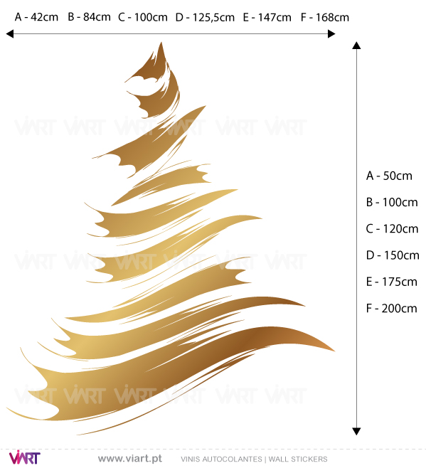 "Viart Wall Stickers - Christmas tree ""Brush"" - measures"