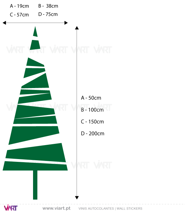 "Viart Wall Stickers - Christmas tree ""Triangle"" - measures"