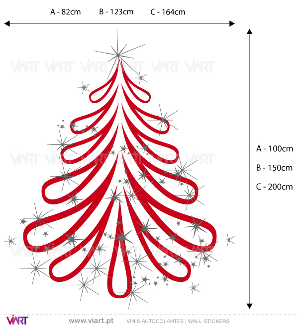 "Viart Wall Stickers - Christmas tree ""Fantasy"" - measures"