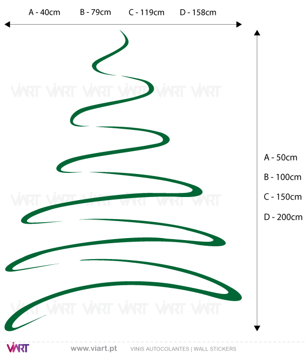 "Viart Wall Stickers - Christmas tree ""Line"" - measures"