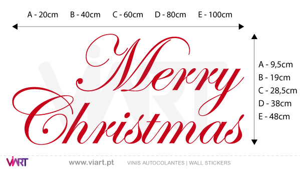 "Viart Wall Stickers - Sentence ""Merry Christmas"" - Version 1 - measures"